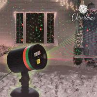 Projecteur Laser de Noël Star Intérieur Extérieur Shower Inclus 2 Fixations Neuf