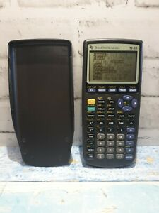 Texas Instruments TI-83 Graphing Calculator, Grey with Cover