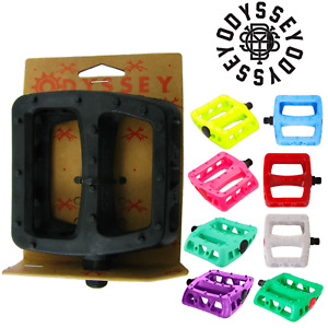 "Odyssey MX Twisted PC BMX Platform 9/16"" Pedals Park Bike Choose Your Color"