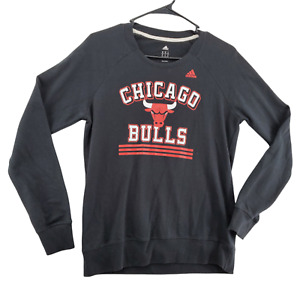 Chicago Bulls Shirt Women's NBA  Long Sleeve Black Size Medium