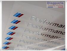 BMW M Performance 5x autocollants Logo Emblème stickers Motorsport Argent