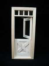 Door - Crossbuck Dutch - Dollhouse miniature wooden 6009  1/12 Scale Houseworks