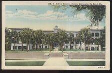 Postcard De LAND Florida/FL  Stetson University Hall of Science Building 1930's