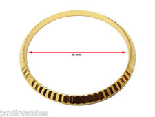 Gold Plated Fluted Bezel to Fit Rolex Mens Datejust, President 36mm Case