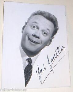 PHOTOGRAPHIE de Jack GAUTHIER avec autographe - Comédien Fantaisiste