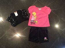 Juicy Couture & Generación. Bebé Niña Top/Shorts/Encogiéndose de hombros 6 años/