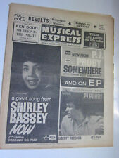 NME 12/11/64 PJ Proby Shirley Bassey Beatles Animals.  NME poll results for 1964