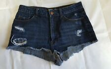 BDG Urban Outfitters Denim Jean Shorts Womens Size 30 Distressed Dark Blue