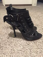 $995 Givenchy Black Iconic Gladiator Heel Booties Size 40.5