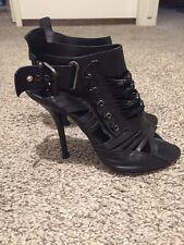 $995 Givenchy Black Iconic Gladiator Heel Booties Size 40.5