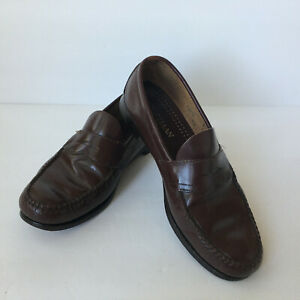 Cole Hann Men's Burgundy Leather Loafers Penny Dress Shoes USA Made Sz:11.5