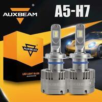 AUXBEAM H7 LED Headlight Bulbs Replace XENON HID High Low Beam 70W 6000K 7530 A5