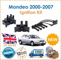 For Ford Mondeo MK3 1.8 2.0 2000-2005 HT Ignition Leads Set + Ignition Coil Pack