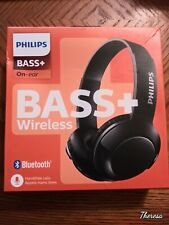 Philips Bass & Headphones Bluetooth Mic & Control Sleek on the Outside with Big