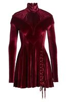 New Y PROJECT Tie Hem Velvet Minidress Size 38 MSRP $1445