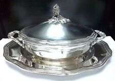 Antique French Christofle MALMAISON Silver Tureen and Cover with Presentoire