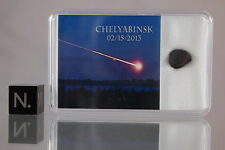 GENUINE CHELYABINSK METEORITE quality display box RUSSIAN 2013 METEOR Great Gift