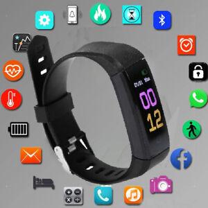 Bluetooth Smartwatch Fitness Tracker Wasserdicht Armband Uhr Pulsmesser Sportuhr