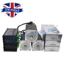 3 Axis CNC Kit 13nm NEMA 34 Stepper Motor & Driver 5a CNC Mill Lathe Router