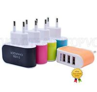 3.1A Triple USB Port Wall Home Travel AC Charger Adapter For S6 EU Plug Hot Sale