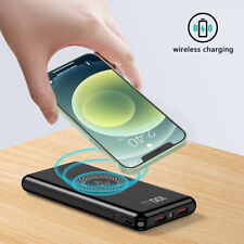 900000mAh Qi Wireless Usb Power Bank 18W Fast Charging Portable Battery Charger