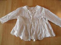 OILILY schöne romantische Bluse weiß m. Rüschen Gr. 116 TOP BI216