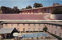 Waco Texas 1960 Postcard Milners Town House Motel Swimming Pool