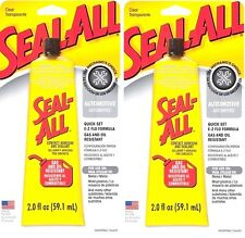 2 SEAL ALL 2oz Contact Automotive Garage Adhesive Sealant Glue CLEAR High Strgth