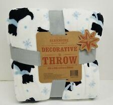 Berkshire Decorative Throw Blanket  60 x 80 Ice Blue Scottie
