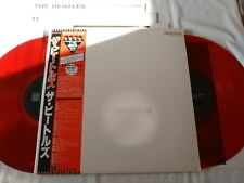 BEATLES WHITE ALBUM JAPAN 1986 UK CUTTING LIMITED MONO RED VINYL W/RED OBI