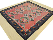 Red Black Geometric Cotton Indian Full Bedspread Tapestry Bed Linens Collection