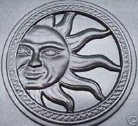 "Sun stepping stone plastic mold concrete plaster mould 13"" x 2"""