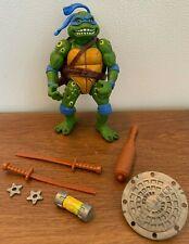 1992 Vintage TMNT Ninja Turtles Playmates Movie Star Leo w/ accessories