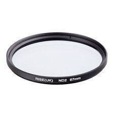 RISE(UK) 67mm Neutral Density ND2 Filter for Canon Nikon Sony Fuji Samsung Lens