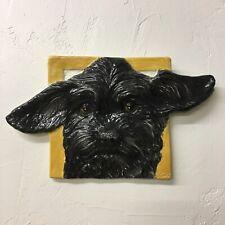 Skye Terrier Dog Ceramic Tile Handmade 3d Pet Portrait Sondra Alexander Art