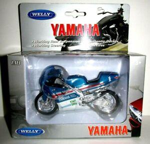 New 1:18 1994 TZ250M Yamaha Motorcycle Sport Racing Bike Toy Welly 19666 Model