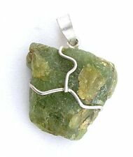 Peridot Crystal Wirewrapped Sterling Crystal Pendant Gemstone Gem Stone Natural