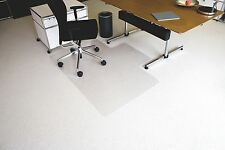 Ecoblue® Bodenschutzmatte für Teppichböden 150x120cm-Form:L Büro Stuhl Unterlage