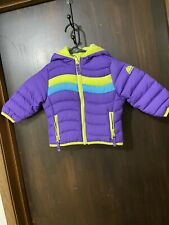 Toddler Girls Snozu Hooded Down Puffy Jacket Size 18 months infant purple