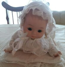 Sweet Baby Doll Cloth Body Bisque Head, Arm/Hands & Legs/Feet Clothed w Foam Bed
