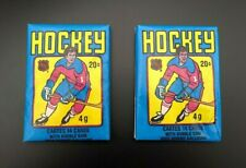 TWO 1979-80 O-PEE-CHEE HOCKEY PACKS WITH WAYNE GRETZKY RC SHOWING ~ HIGH GRADE