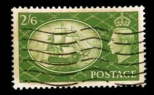 1951 Great Britain  /  2/6 / Green / SG286  /George Vi   issue Cancelled