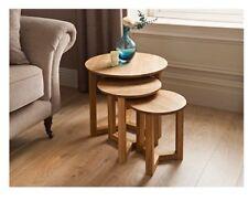 Rotondo in rovere di tavolini gambe moderno con set di 3 SUPERIORE CURVO GRANDE MEDIO PICCOLO