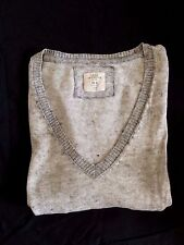 Pull Laine H&M Gris Coutures Apparentes Taille 34