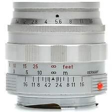 Leica 50mm f1.4 Summilux-M Lens (Silver) with XOOIM Lens Hood