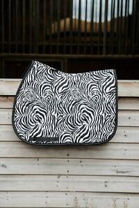 New Zebra Print Animal Print Saddle Pad Numnah GP or Dressage