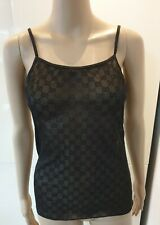 Iconic Tom Ford Gucci 98 Monogram GG Black Sheer Camisole Vest Lingerie New XL