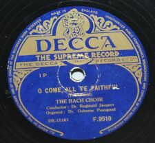 """10"""" 78-The BACH Harlem-O Come All Ye Geyser-DECCA f9510 - 1950"""