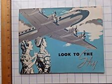 Look to the Sky. NICE 1953 Reading/Picture Book on Aviation for School Kids.
