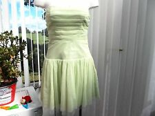 "lipsy"" ladies lime green size 10 cocktail dress"